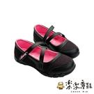 【樂樂童鞋】【台灣製現貨】MIT繞帶公主鞋-黑 C028-1 - 現貨 台灣製 女童鞋 大童鞋 公主鞋 包鞋