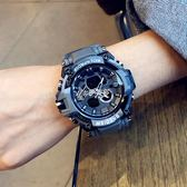 戶外手錶 潮牌多功能韓版簡約手錶男女學生迷彩防水運動戶外數字式電子錶 京都3C