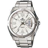 CASIO卡西歐EDIFICE俐落時尚腕錶  EF-129D-7A  白