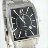 【萬年鐘錶】SIGMA日系 黑經典時尚男錶 8801M-1
