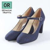 【ORiental TRaffic】復古圓頭繫帶瑪麗珍鞋-皇室藍