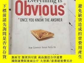 二手書博民逛書店Everything罕見Is Obvious 一切都很糟糕 作者 Duncan J. WattsY25376