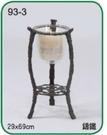 【南洋風休閒傢俱】緞鐵飾品系列-鋁合金燭臺 裝飾燭台 庭園燭台 (L93-3 #20102TG)
