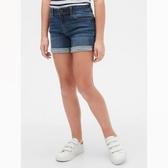 Gap女童時尚水洗五口袋牛仔短褲539953-深藍色