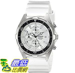 [美國直購] 手錶 Casio Mens AMW380-7AV Classic Analog Chronograph White Resin Band Watch