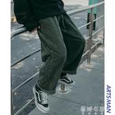 休閒褲秋冬季燈芯絨休閒褲韓版寬鬆潮流長褲港風百搭直筒褲