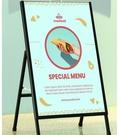 展示牌 廣告架 鐵質海報架kt板廣告牌展示牌戶外手提展架立式落地式宣傳立牌架子