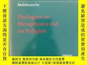 二手書博民逛書店Malebranche:罕見Dialogues on Metap