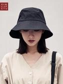 漁夫帽女夏日繫文藝百搭防曬遮陽帽子