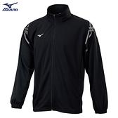 MIZUNO 男裝 外套 套裝 針織 吸汗快乾 抗紫外線 黑【運動世界】32TC103209