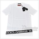 D&G經典印花LOGO棉質短袖T恤(白)