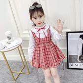 女童春裝假兩件洋裝2019新款韓版中大童洋氣公主裙兒童春秋裙子 滿天星