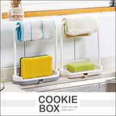 免打孔 抹布掛架 瀝水架 (隨機出貨) 廚房 檯面 收納架 抹布架 菜瓜布架 置物架 桌面架 *餅乾盒子*