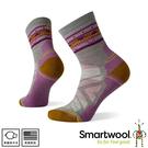【SmartWool 美國 女 機能戶外全輕量減震民族風印花中筒襪《月光灰》】SW001580/運動襪/戶外襪