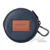 茱麗葉精品【全新現貨】COACH 91258 補丁LOGO造型拼色圓形零錢包.靛藍 大款
