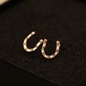 耳環 玫瑰金純銀鑲鑽-大方個性生日情人節禮物女飾品2色73ca274[時尚巴黎]