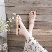 涼鞋 年新款夏季仙女風ins潮平底原宿學生百搭羅馬時裝涼鞋女夏天