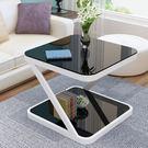陽台小茶几簡約現代迷你方形客廳沙發邊幾簡...