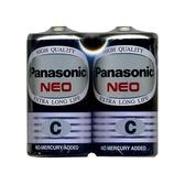 Panasonic 國際牌 2號碳鋅電池黑色 環保型2入