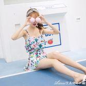泳衣 女保守遮肚顯瘦連體裙式小胸聚攏2016新款大碼韓國泳裝  艾美時尚衣櫥