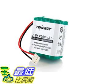 [107美國直購] 替換電池 Tenergy 7.2V 2000mAh Replacement Battery for iRobot Braava 320/321