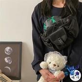 胸包街拍男女百搭腰包日系工裝小挎包機能創意個性【古怪舍】
