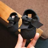 嬰兒步前鞋0-18月蝴蝶結軟底女寶寶公主學步鞋不掉鞋新生『極有家』