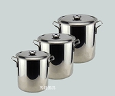 不銹鋼湯桶30*30CM/加厚不銹鋼桶湯桶帶蓋/不銹鋼米桶多用桶水桶『向日葵生活館』