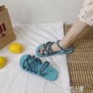 網紅可濕水涼拖鞋女夏天外穿ins潮鞋沙灘時尚百搭2020年新款夏季『櫻花小屋』