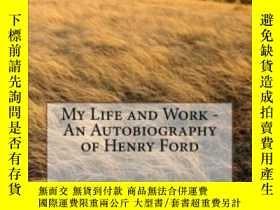 二手書博民逛書店My罕見Life And Work - An Autobiography Of Henry Ford-我的生活與工