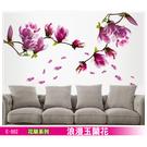 E-002 花草系列-浪漫玉蘭花 大尺寸創意高級壁貼 / 牆貼-賣點購物