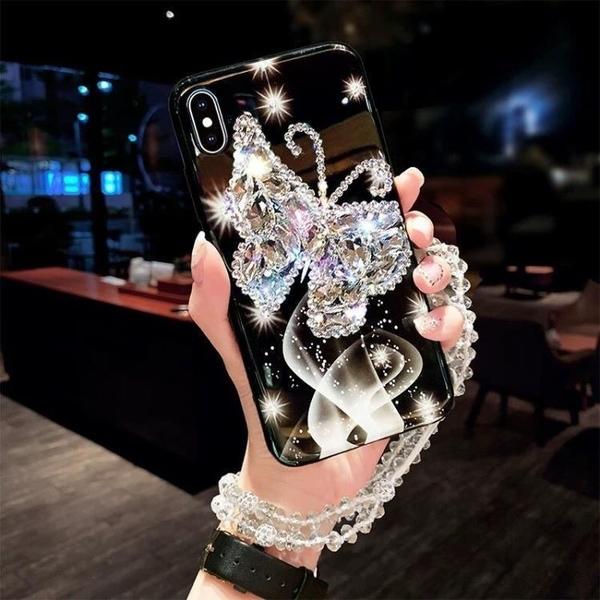 新品特價 網紅華為nova7手機殼P40/P30pro硅膠保護套mate20鑲鉆567掛繩se女