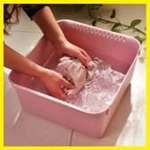 塑料臉盆家用洗衣盆嬰兒洗臉盆加厚耐摔長方形洗菜盆大號