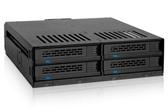 "ICY DOCK ExpressCage 四層式 2.5"" SAS/SATA HDD&SSD轉一5.25""裝置空間 熱插拔 硬碟背板模組 MB324SP-B"