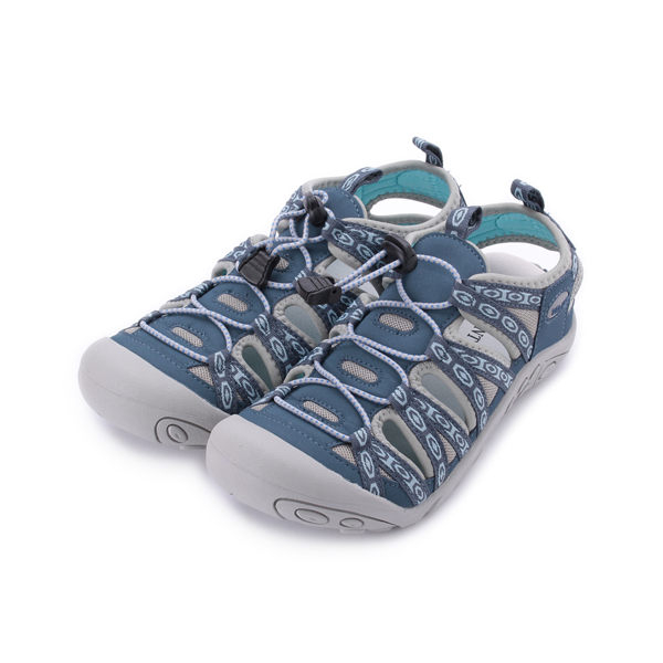 RED ANT 真皮護趾運動涼鞋 藍 H3 女鞋 鞋全家福