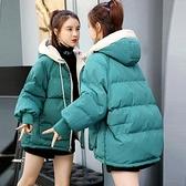 冬裝韓版棉服女短款寬鬆學生面包服加厚棉衣外套