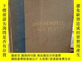 二手書博民逛書店One罕見hundred book plates engrave