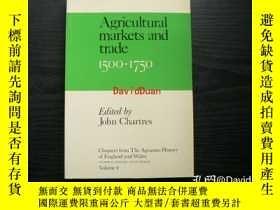二手書博民逛書店Agricultural罕見markets and trade, 1500-1750 <Chapters from
