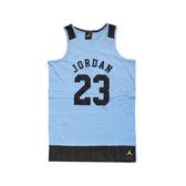 Nike 背心 Jordan Tank 藍 黑 女款 童裝 大童 爆裂紋 【ACS】 53311ST513206