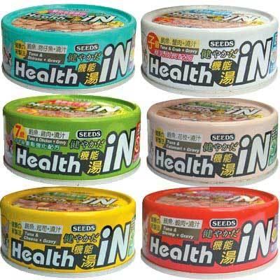 【培菓平價寵物網】聖萊西Seeds》Health iN機能湯澆汁貓餐罐系列貓罐80g*24罐(1箱)