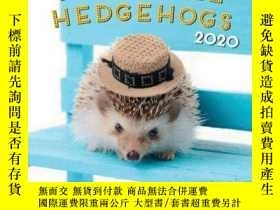 二手書博民逛書店Adorable罕見Hedgehogs 2020: 16 Mon