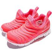 【粉粉DER】Nike 慢跑鞋 Dynamo Free PS 毛毛蟲 粉紅 白 運動鞋 童鞋 中童鞋【PUMP306】 343738-620