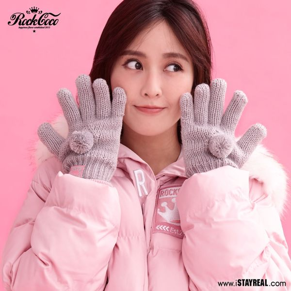 ROCKCOCO 小清新雙層保暖手套