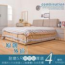 床架 房間組合 原創外宿耐磨5尺房間組(厚底)-4件組/ 16048-B-4WA【多瓦娜】