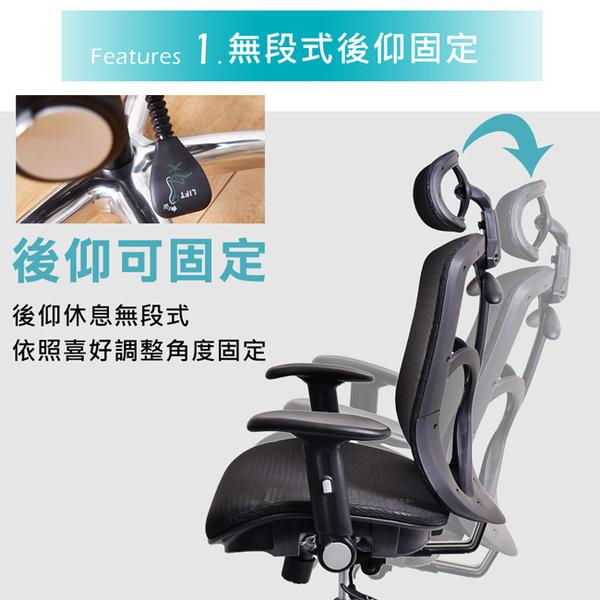電腦椅 辦公椅 主管椅 凱堡 Saunders高配第二代高韌性彈力網(鋁合金腳+PU輪)電腦椅 【A40173】