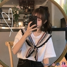 熱賣假兩件上衣 chic港味假兩件短袖t恤女2021韓版寬鬆ins泫雅風設計感小眾上衣夏 coco