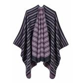 仿羊絨披肩波浪條紋雙面包邊女圍巾5 色73we35 【巴黎 】