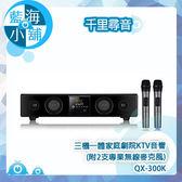 【千里尋音】三機一體家庭劇院KTV音響(附2支專業無線麥克風) QX-300K