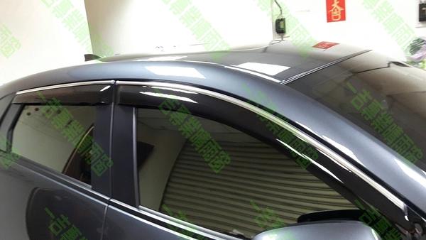 【一吉】HR-V 無限款+鍍鉻飾條 晴雨窗 台灣製造(HRV晴雨窗 mugen晴雨窗 無限晴雨窗 HR-V晴雨窗