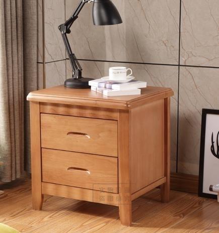 床頭櫃 橡木床頭櫃實木簡約現代宿舍臥室家用儲物櫃迷你床頭櫃經濟型整裝 DF 優拓